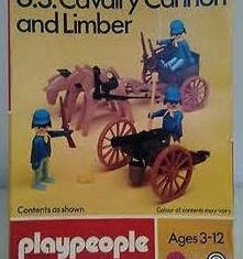 Playmobil - 1775-pla - U.S. Cavalry Cannon and Limber