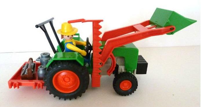 Playmobil 1787-pla - Farm Tractor - Back