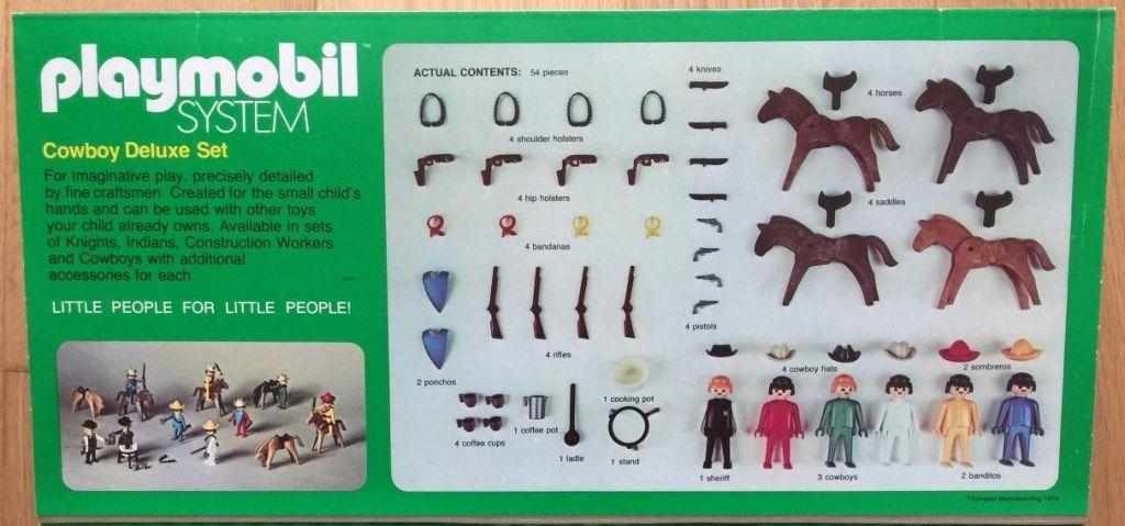 Playmobil 040-sch - Cowboy Deluxe Set - Back