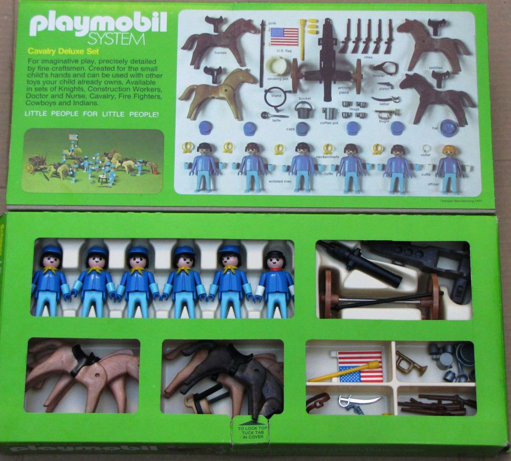 Playmobil 060-sch - Cavalry Deluxe Set - Back