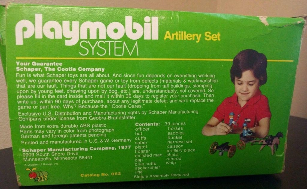 Playmobil 062-sch - Set artillerie - Boîte