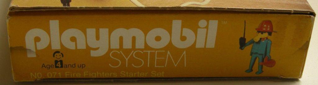 Playmobil 071-sch - Fire Fighters Starter Set - Box
