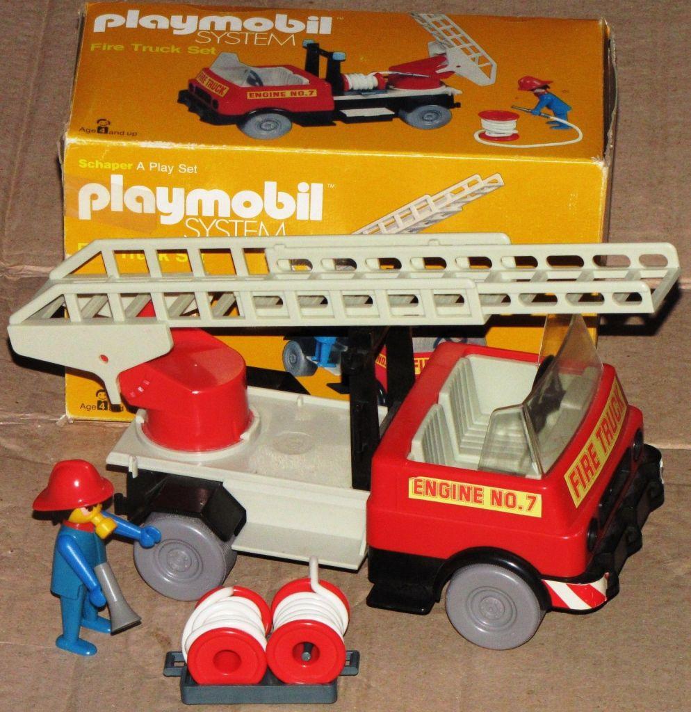 Playmobil 077-sch - Fire Truck Set - Back