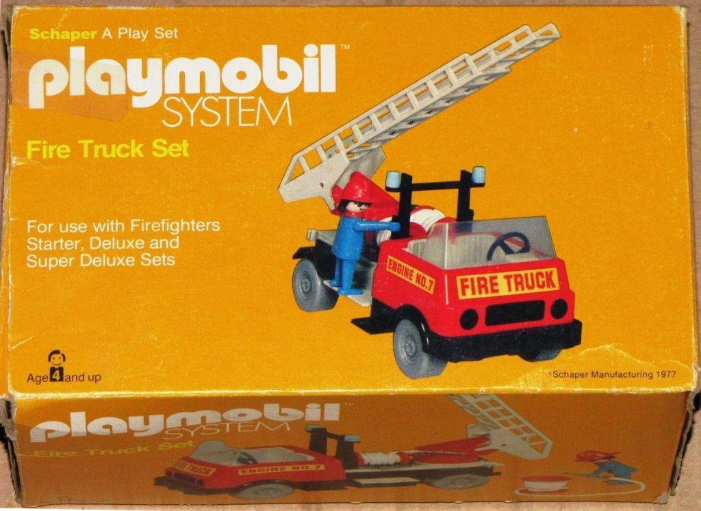 Playmobil 077-sch - Feuerwehrauto Set - Box