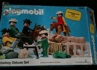 Playmobil - 1002v1-sch - Cowboy Deluxe Set