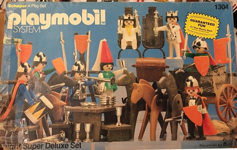 Playmobil 1304-sch - Knight Super Deluxe Set - Box