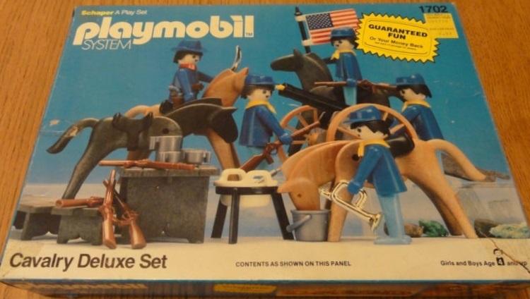 Playmobil 1702-sch - Cavalry Deluxe Set - Box