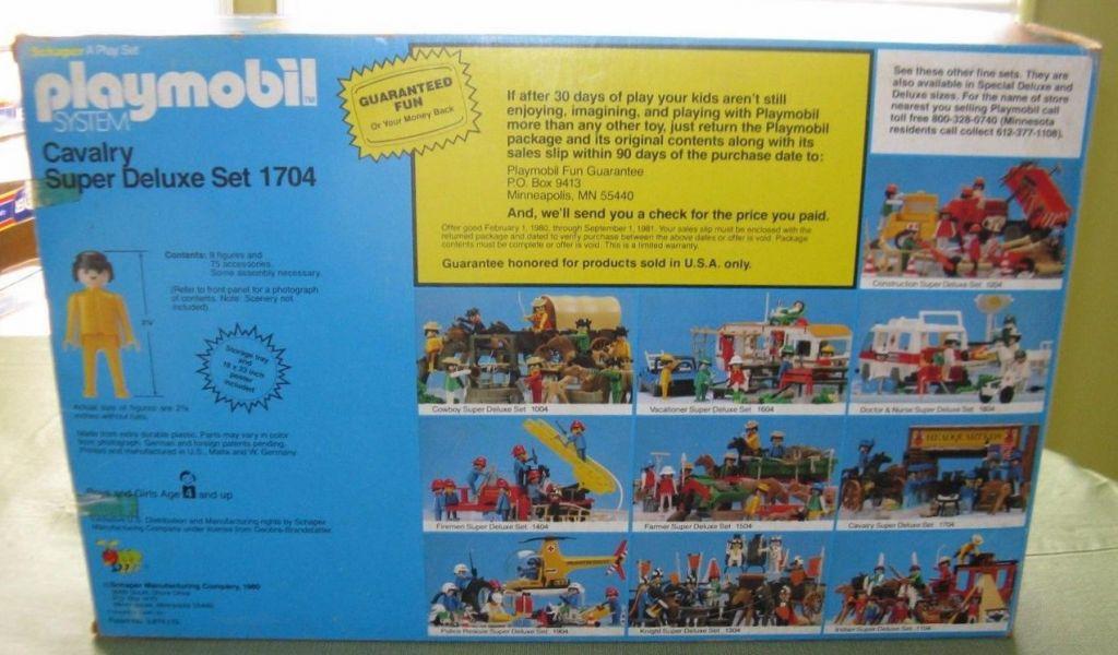 Playmobil 1704-sch - Cavalry Super Deluxe Set - Box