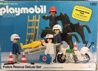Playmobil - 1902-sch - Police Rescue Deluxe Set