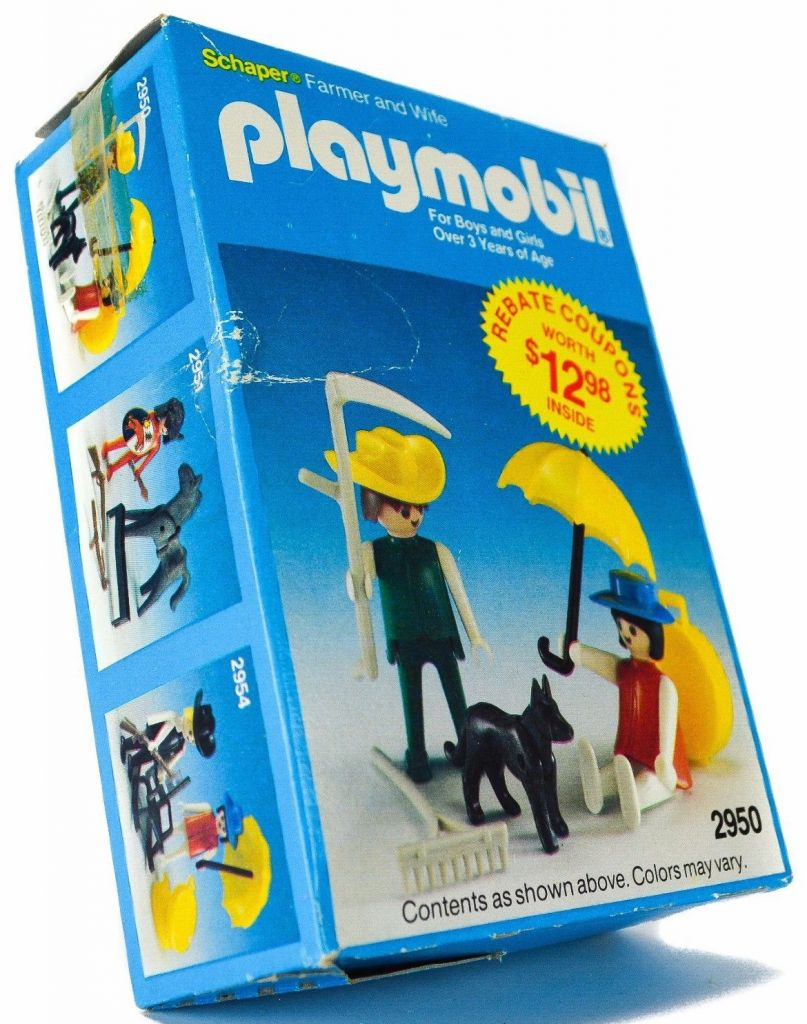Playmobil 2950-sch - Farmer and Wife - Box