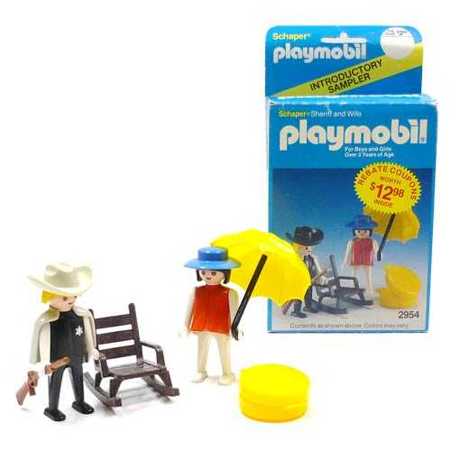 Playmobil 2954-sch - Sherif and Wife - Back