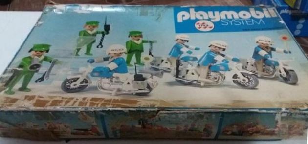 Playmobil 23.40.1-trol - 7 policemen with motorbikes - Box