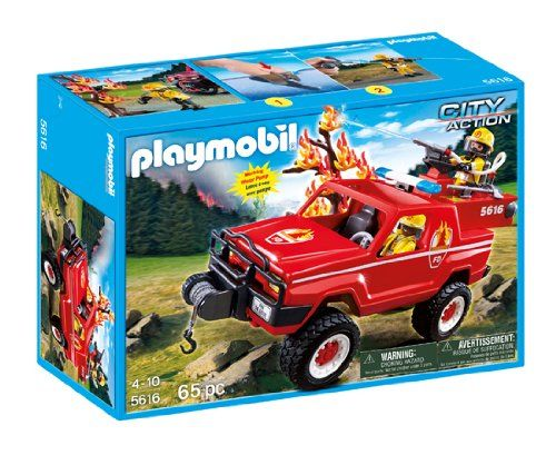Playmobil 5616-usa - Fire terrain truck - Box
