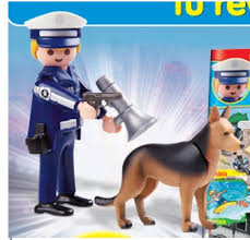 Playmobil R013-30796383 - Police with dog - Back