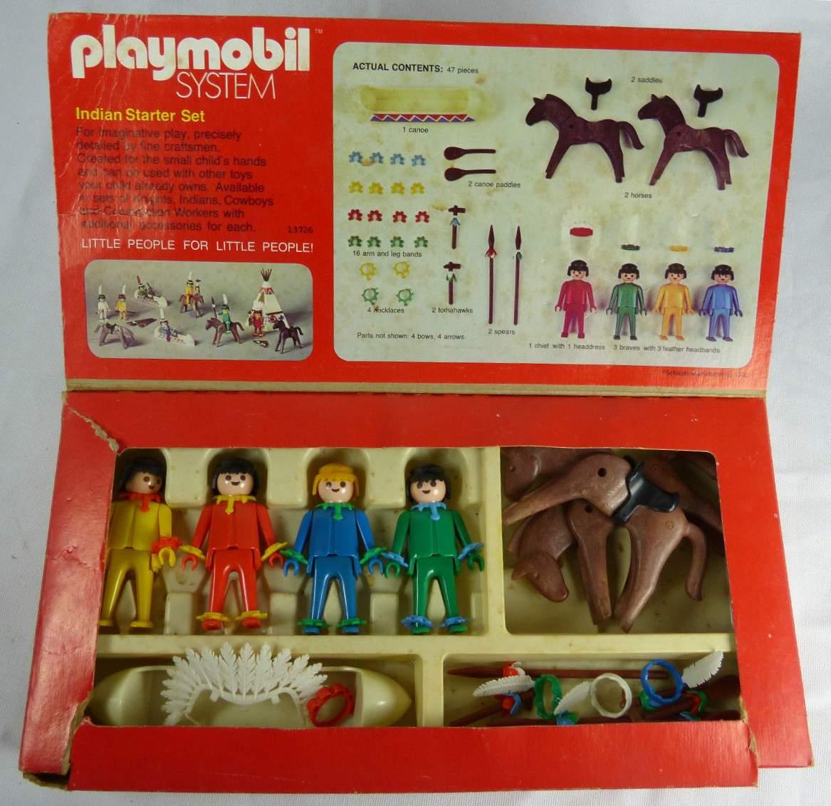 Playmobil 026-sch - Indian Starter Set - Back