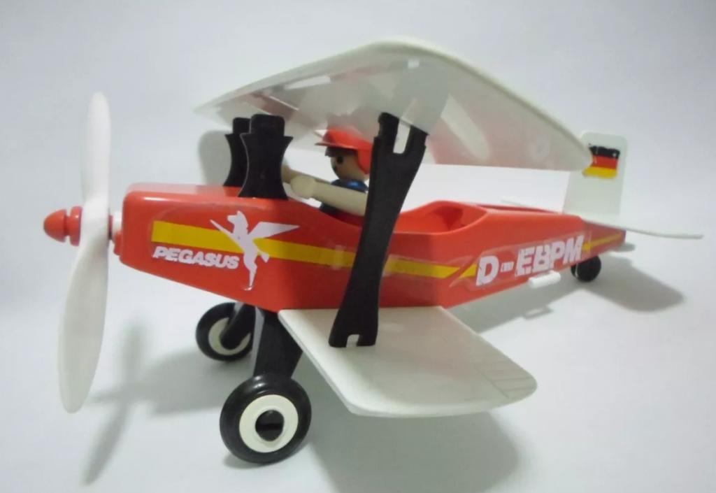 Playmobil 13246-aur - Red biplane - Box
