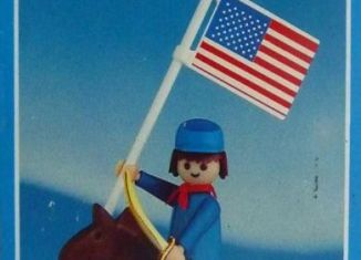 Playmobil - 1025-lyr - US rider with flag