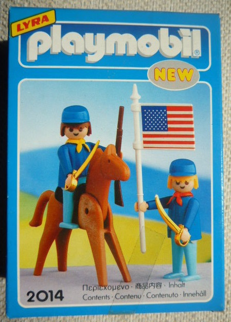 Playmobil 2014-lyr - US rider & soldier with flag - Box
