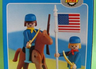 Playmobil - 2014-lyr - US rider & soldier with flag