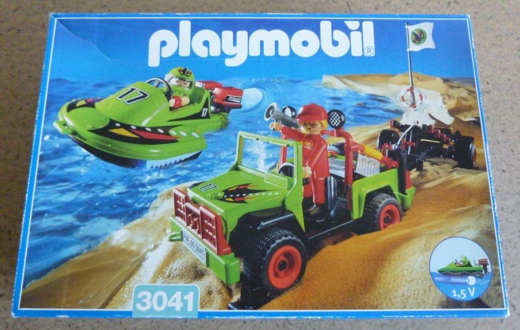 Playmobil 3041 - Jeep with Speedboat - Box