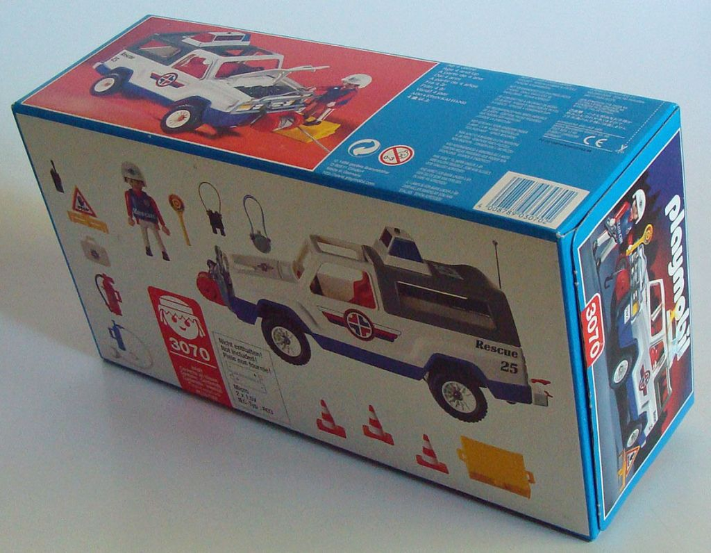 Playmobil 3070 - Rescue Suv - Back