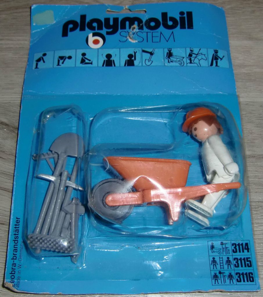 Playmobil 3114s1 - Construction worker - Box