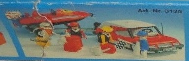 Playmobil 3135s2 - Speedboat + car - Back