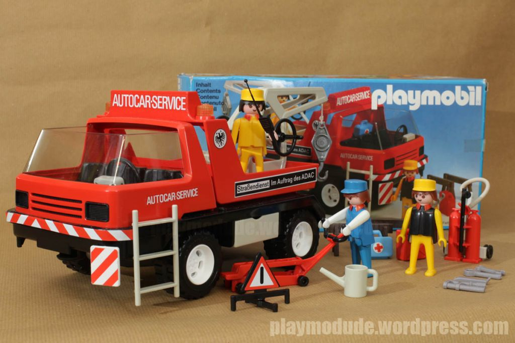 Playmobil 3136 - Tow truck - Back