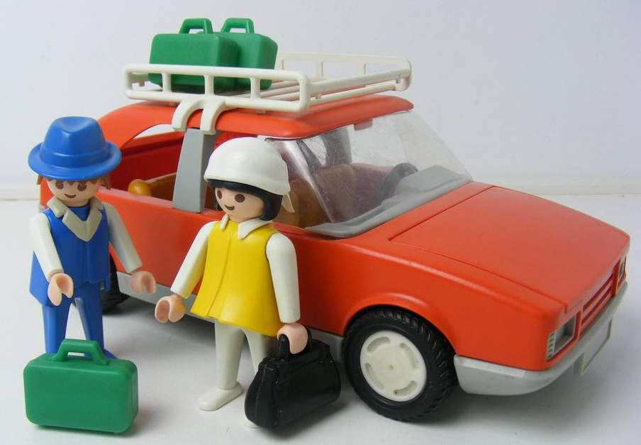 Playmobil 3139v1 - Red Family Car - Back
