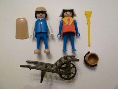 Playmobil 3170s1 - Farmers - Back