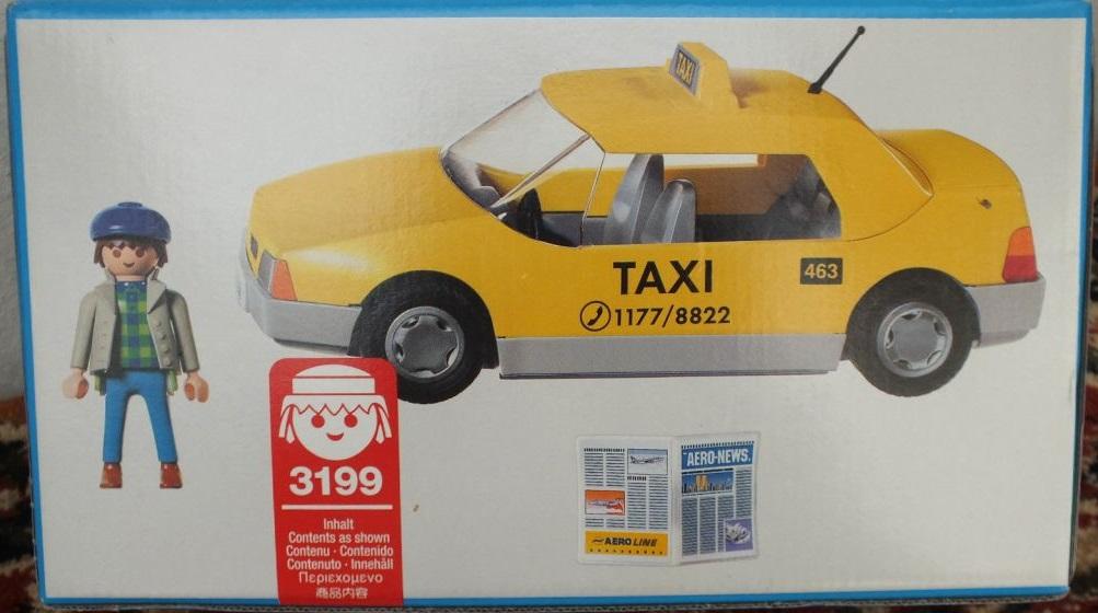 Playmobil 3199v1 - Taxi /  NY skyline - Back