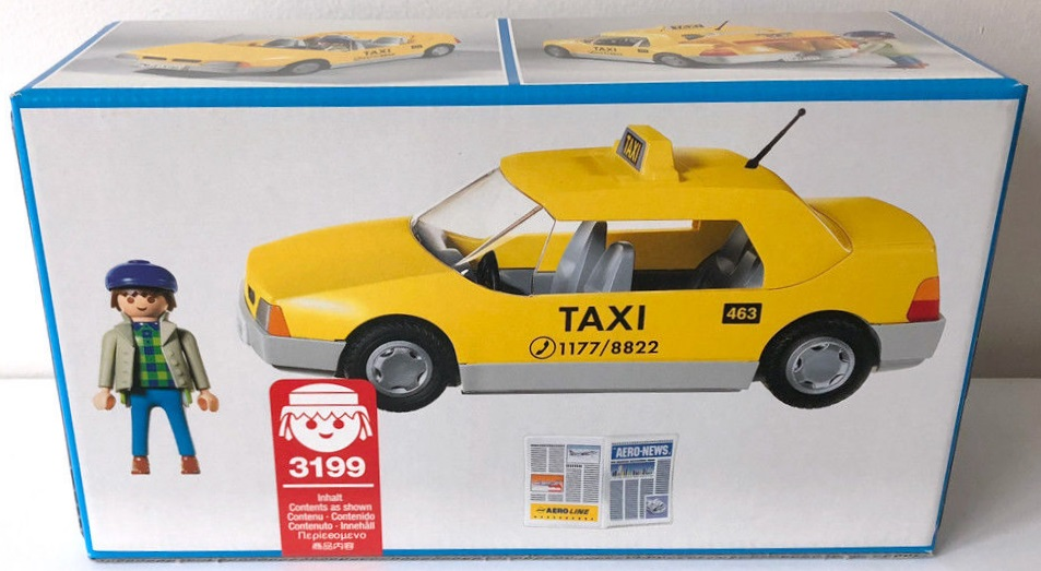 Playmobil 3199v2 - Taxi - Back