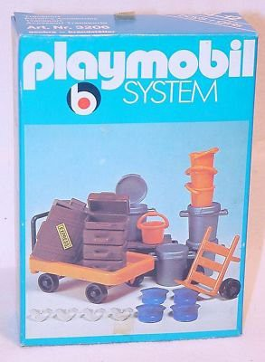 Playmobil 3206s1v2 - Railway Station Platform Luggage - Box