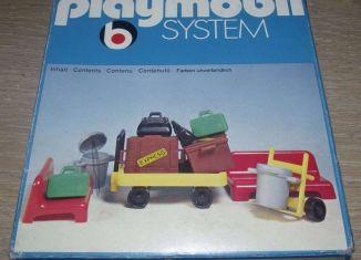 Playmobil - 3206s1v3 - Railway Station Platform Luggage