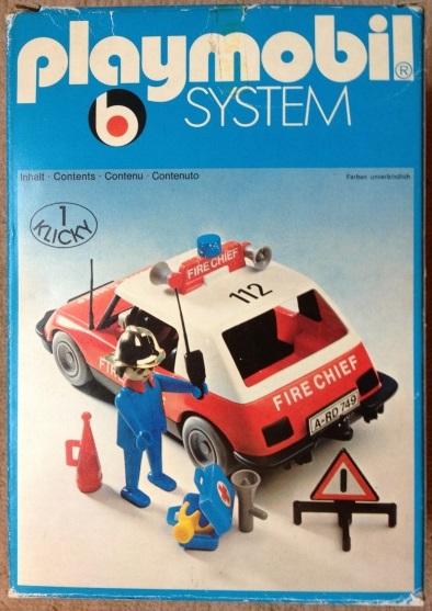 Playmobil 3216s1 - Fire Chief Car - Box