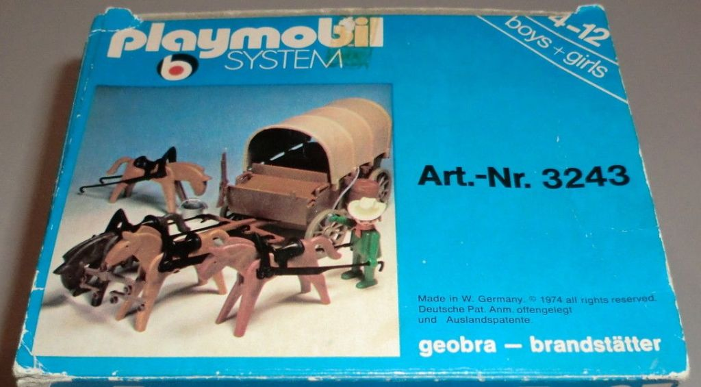 Playmobil 3243s1 - Covered Wagon and Horses - Box