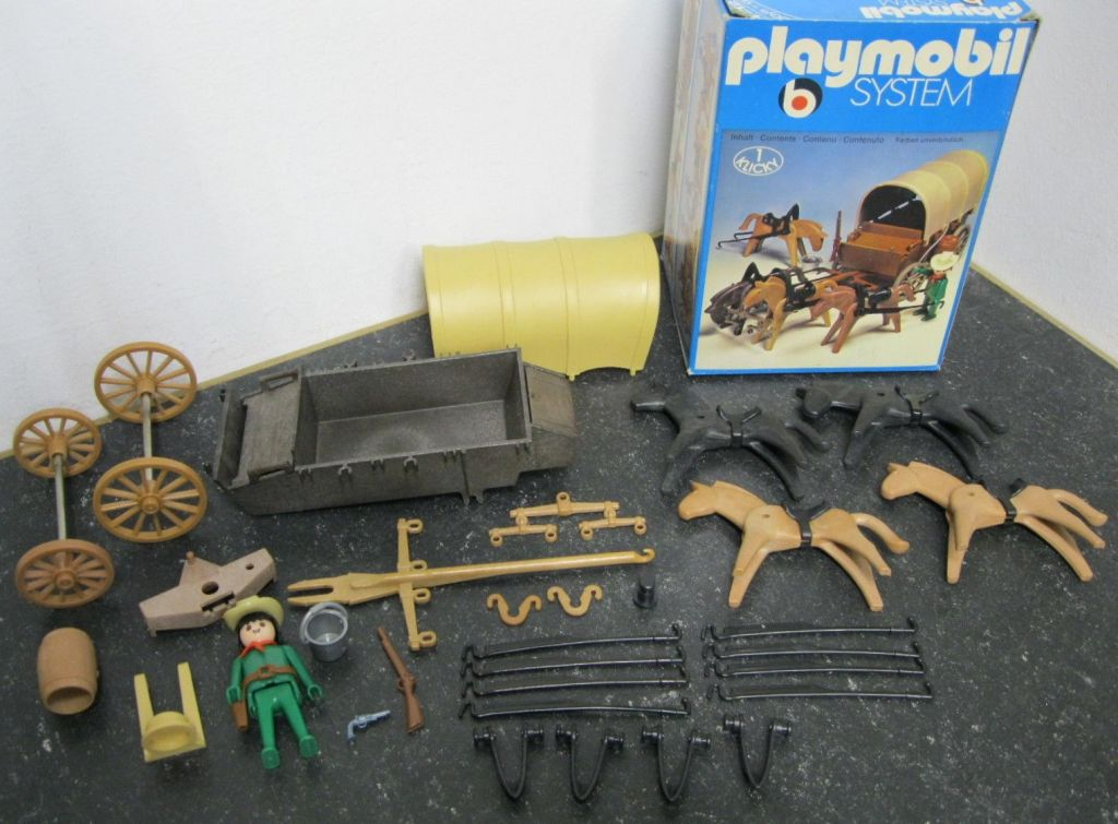 Playmobil 3243s1 - Covered Wagon and Horses - Back