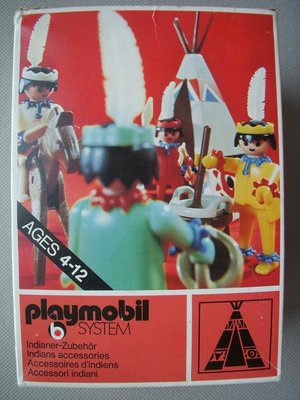Playmobil 3252s1v1 - Tent / Canoe / Cooking Pots - Box
