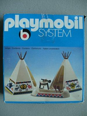 Playmobil 3252s1v2 - Tent / Canoe / Cooking Pots - Box