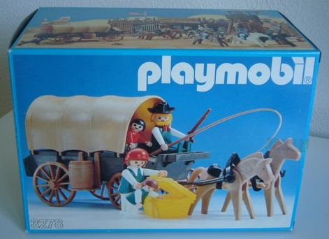 Playmobil 3278v1 - Settlers & covered wagon - Box