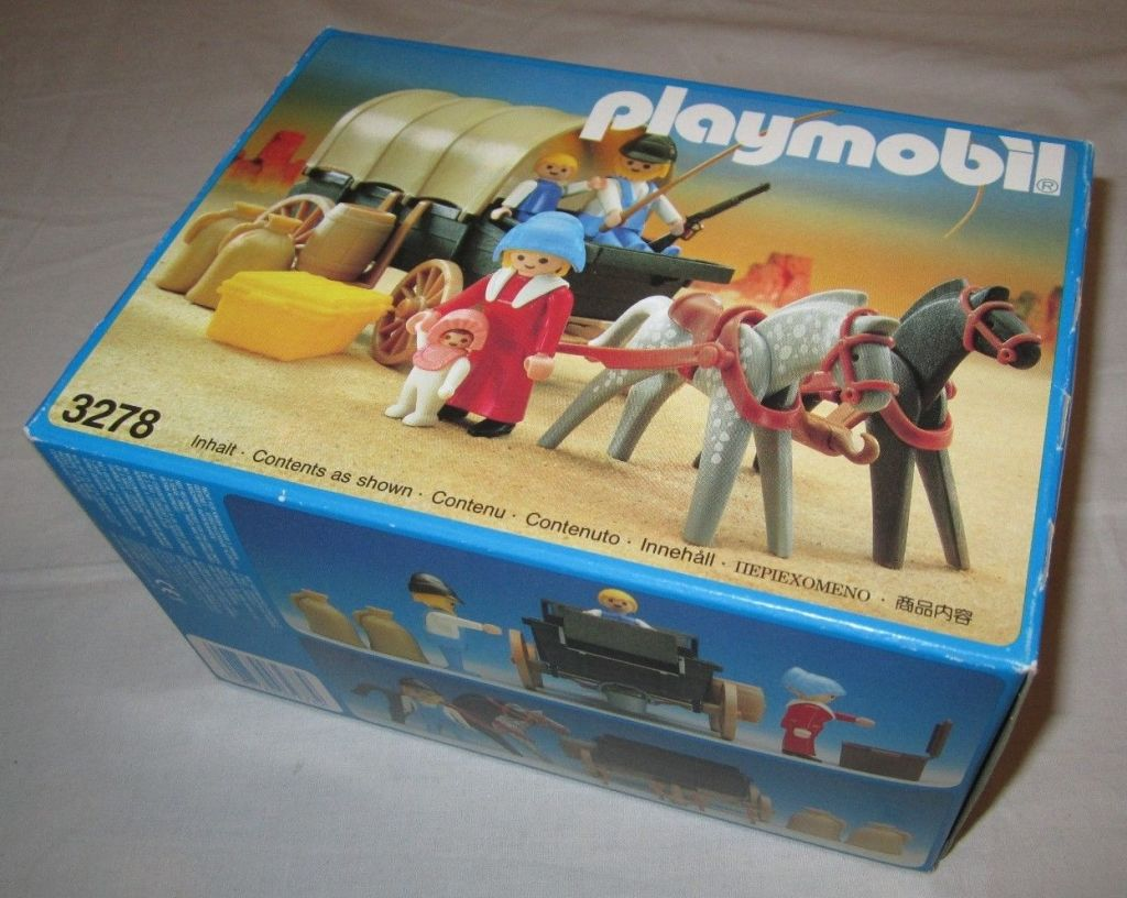 Playmobil 3278v2 - Settlers & covered wagon - Box