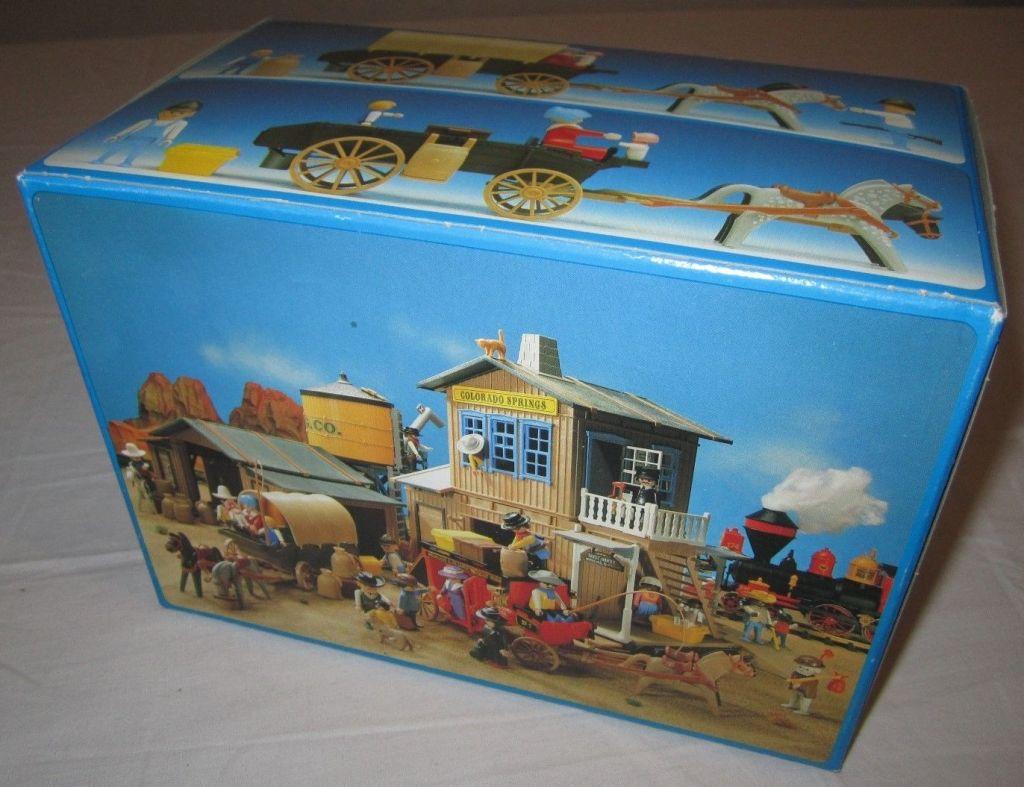 Playmobil 3278v2 - Settlers & covered wagon - Back