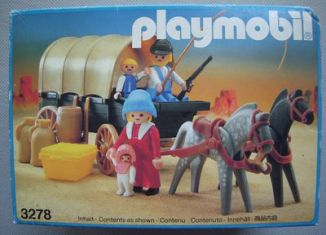 Playmobil - 3278v2 - Settlers & covered wagon