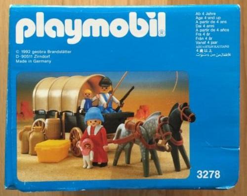 Playmobil 3278v3 - Settlers & covered wagon - Back