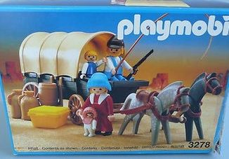 Playmobil - 3278v3 - Settlers & covered wagon