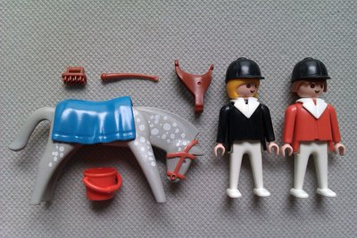 Playmobil 3305-ant - Horse And Riders - Back