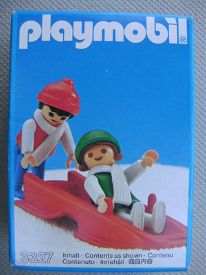 Playmobil 3327s1 - Children With Sled - Box