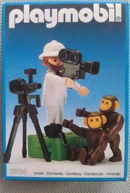 Playmobil 3364 - Photographer With Chimps - Box
