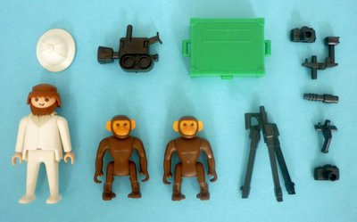 Playmobil 3364 - Photographer With Chimps - Back