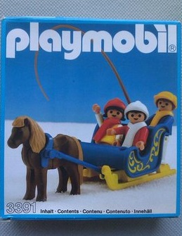 Playmobil 3391 - Traîneau attelle poneys / enfants - Boîte